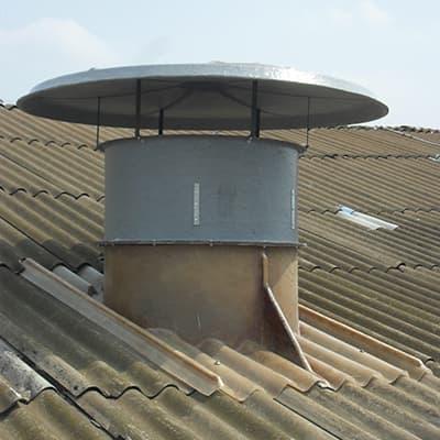Especificações técnicas de um exaustor axial de telhado