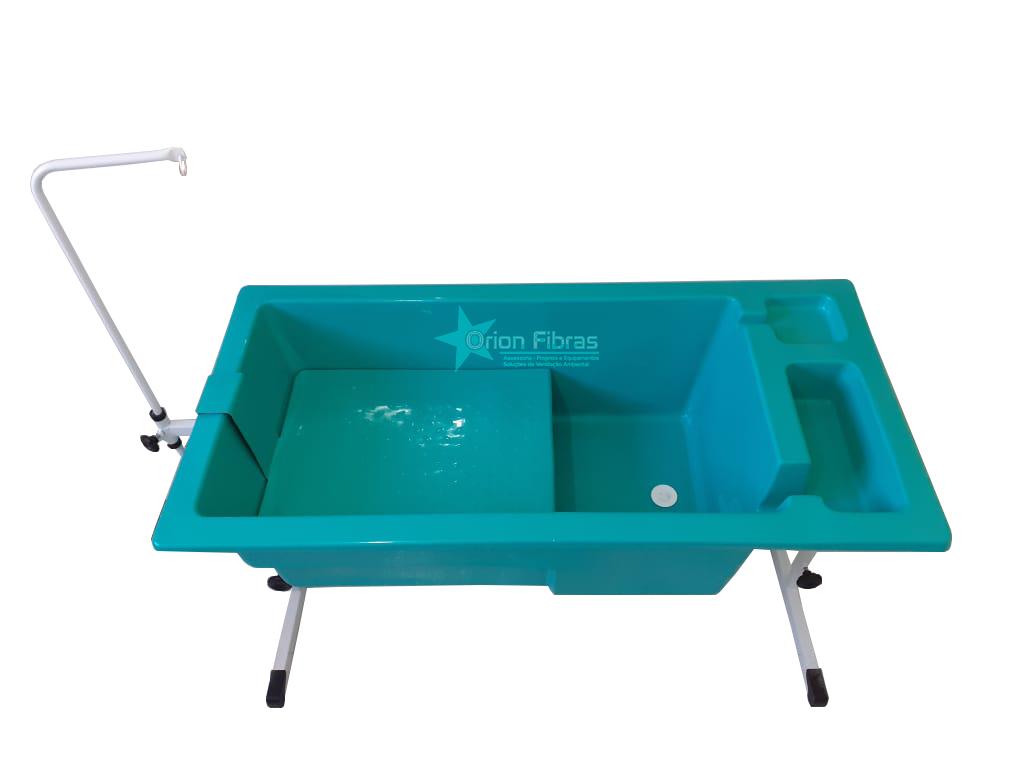 Banheira Grande com Porta Shampoo, Degrau e Suporte Regulável
